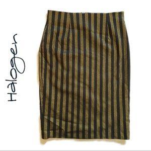 2/$30🌼 NWOT Halogen Black And Gold Pencil Skirt